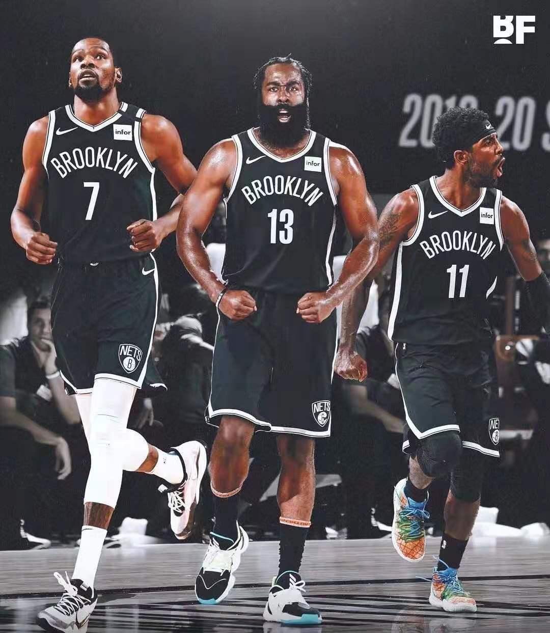 """篮网""""三巨头""""正式组建。"""