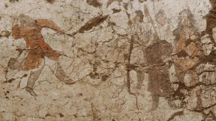 陕西发现两座唐代纪年壁画墓,壁画胡人驯马图、牵驼图生动