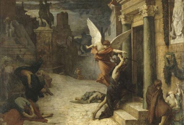 罗马的瘟疫(朱尔斯·埃利·德劳内,1869,图片来源:巴黎奥赛美术馆)