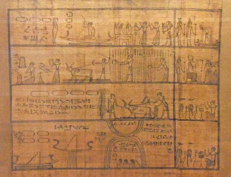 描绘农夫工作的古埃及纸莎草