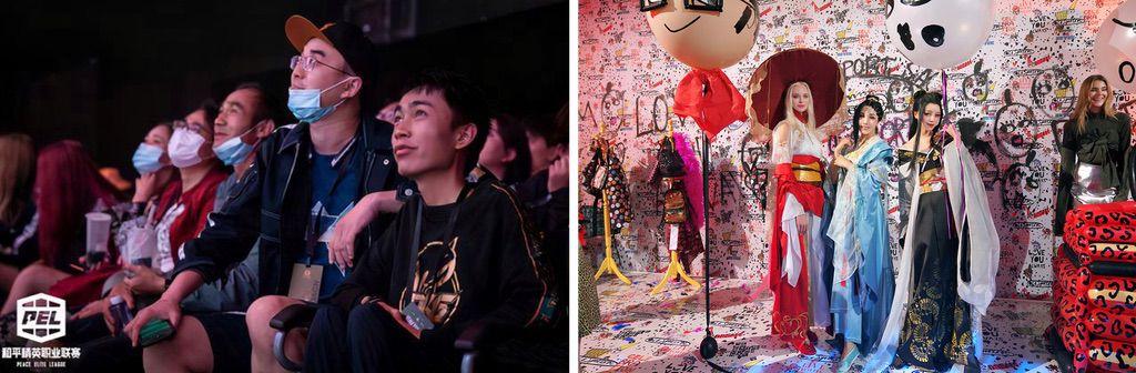 七仔在《和平精英》总决赛与押切在纽约时装周。