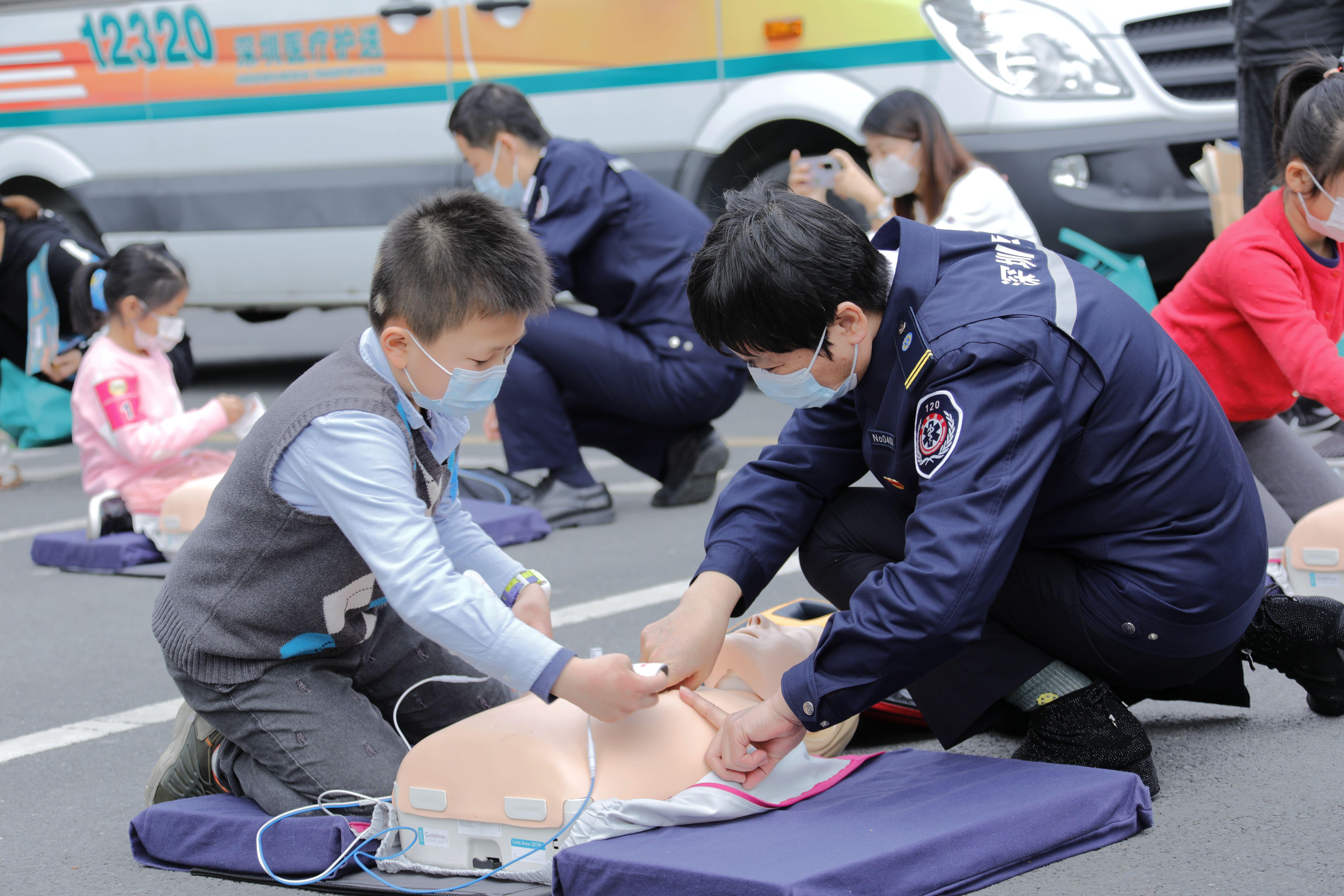 发布会现场。深圳市急救中心供图