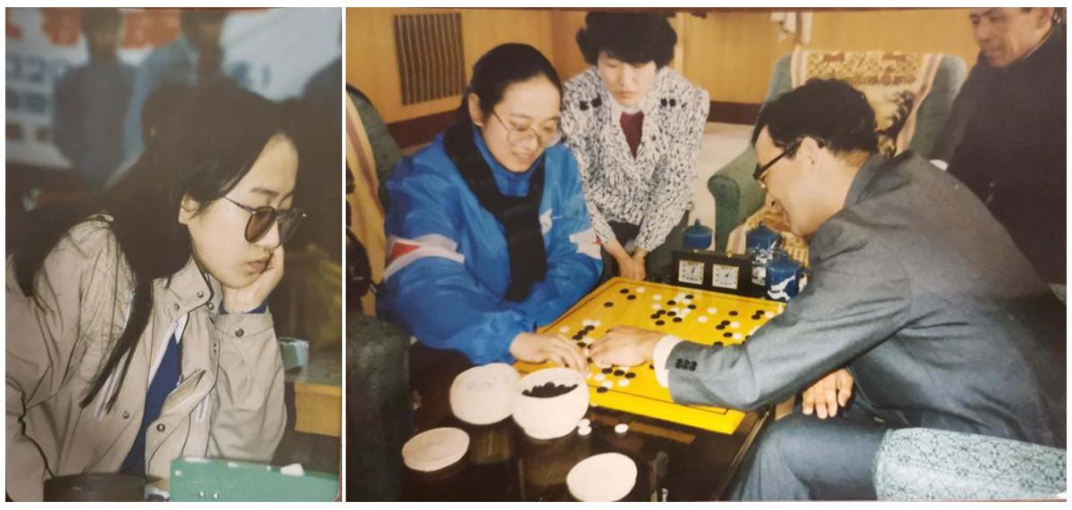 二姨在围棋比赛中。