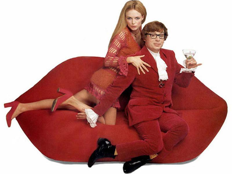 红唇沙发也曾在电影《王牌大间谍》里出现