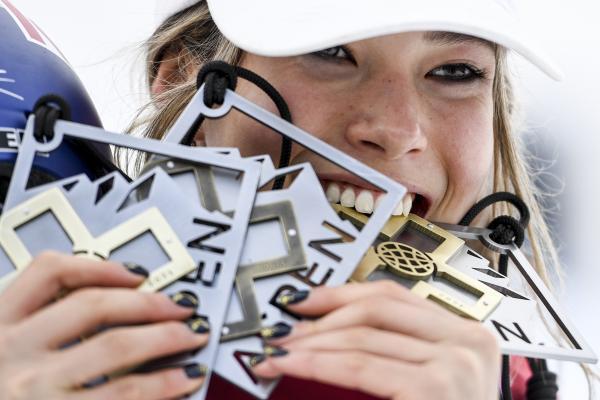 谷爱凌在世界极限运动会获得2金1铜。 CFP 图