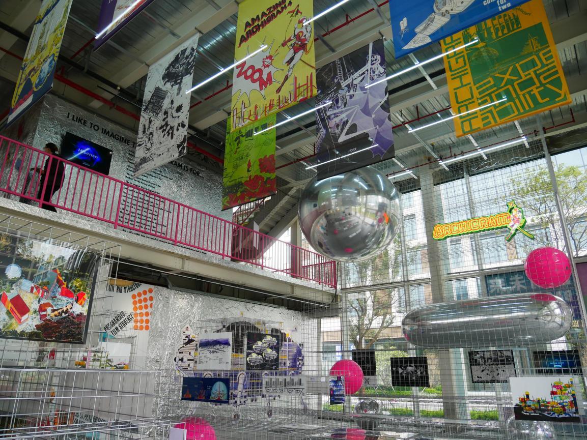 建筑电讯派展览现场 互文组图