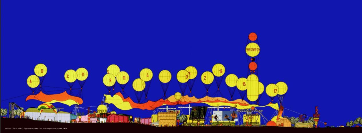 建筑电讯派作品《瞬时城市》互文组图