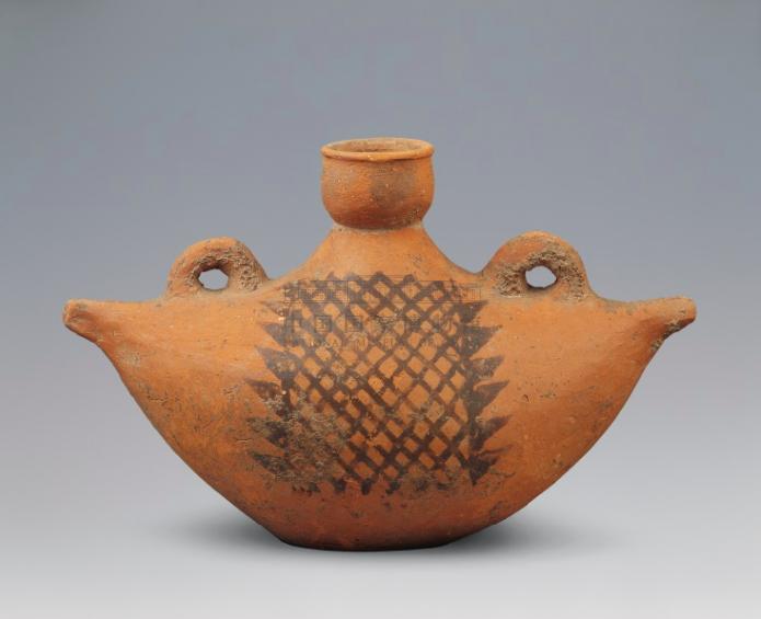 仰韶文化 船形彩陶壶 国家博物馆藏