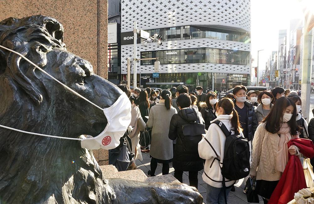 当地时间2021年2月7日,日本东京街头。人民视觉 图