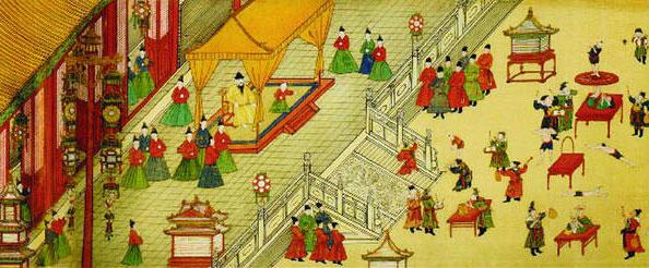 收藏于故宫的《明宪宗元宵行乐图》(局部)