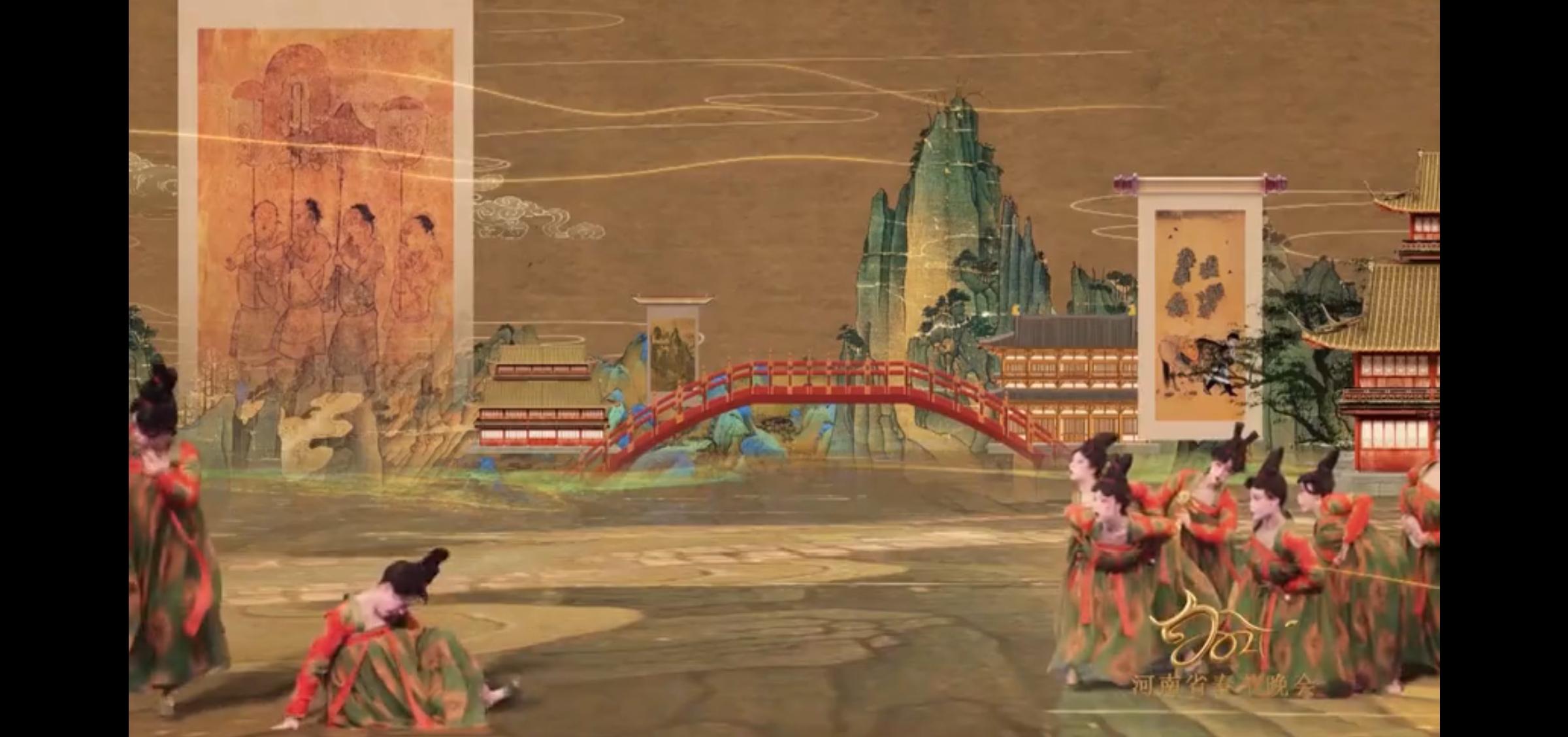 穿行名画间 《唐宫夜宴》剧照 图自河南卫视公众号视频发布截屏