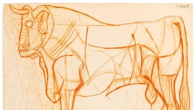 """毕加索与牛:走过的路,会连线成一只""""弥诺陶洛斯"""""""
