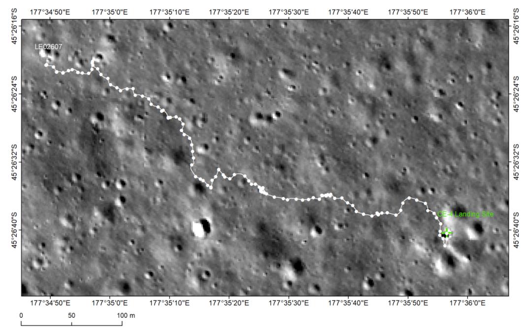嫦娥四號巡視路徑圖