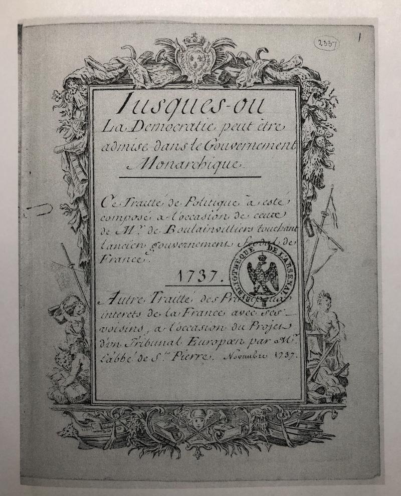 1737年手稿封面(手稿2)