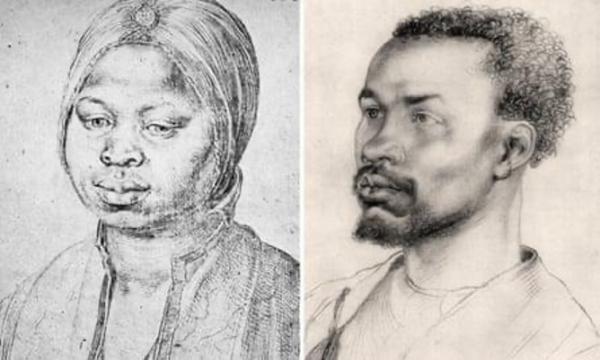 在十五世纪末之前,来自阿拉伯和北非的穆斯林一直统治着伊比利亚半岛的大部分地区;几年后,佛罗伦萨第一任美第奇公爵亚历山德罗的母亲是非洲人。 《卡塔琳娜肖像》,1521年;《非洲人肖像》,1508年