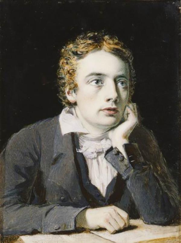 济慈像,约瑟夫·塞文绘,1819,国家肖像馆