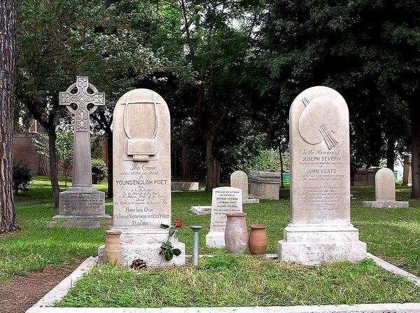济慈与塞文的墓碑,罗马新教