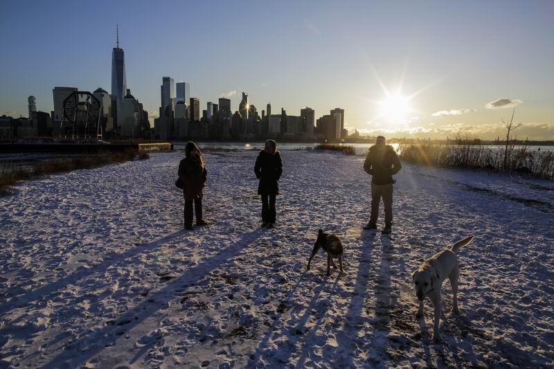 2018年1月6日,美国新泽西州,寒流侵袭,低温天气持续。