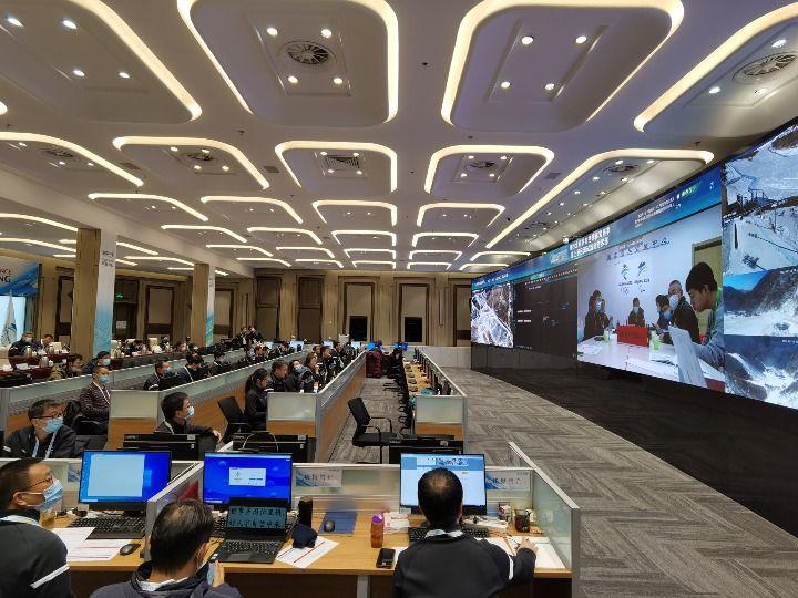 坐落于北京冬奥组委首钢办公区的指挥部。