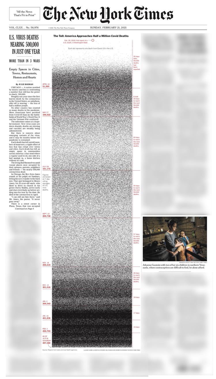 《纽约时报》2月21日的头版