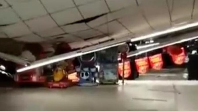 山西暴雪压塌超市顶棚4人被困,官方:均已救出送医