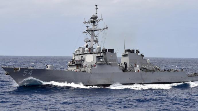 美军舰穿航台湾海峡,东部战区:保持戒备,随时应对威胁挑衅