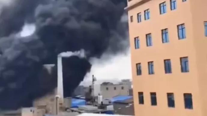 福建长乐一染整厂发生火灾,已致2死7伤