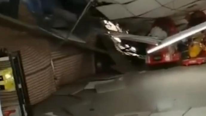 山西一超市因特大暴雪导致部分顶棚坍塌,已致1死3伤