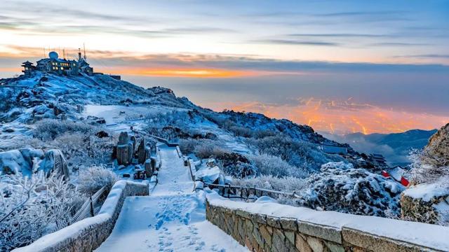 雪后泰山美的出奇。好客山东 图
