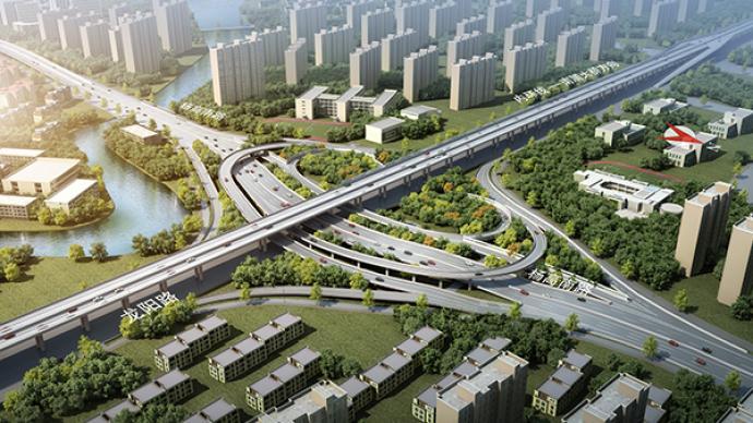 浦东大道快修好了,计划今年12月中旬完成地面六车道恢复