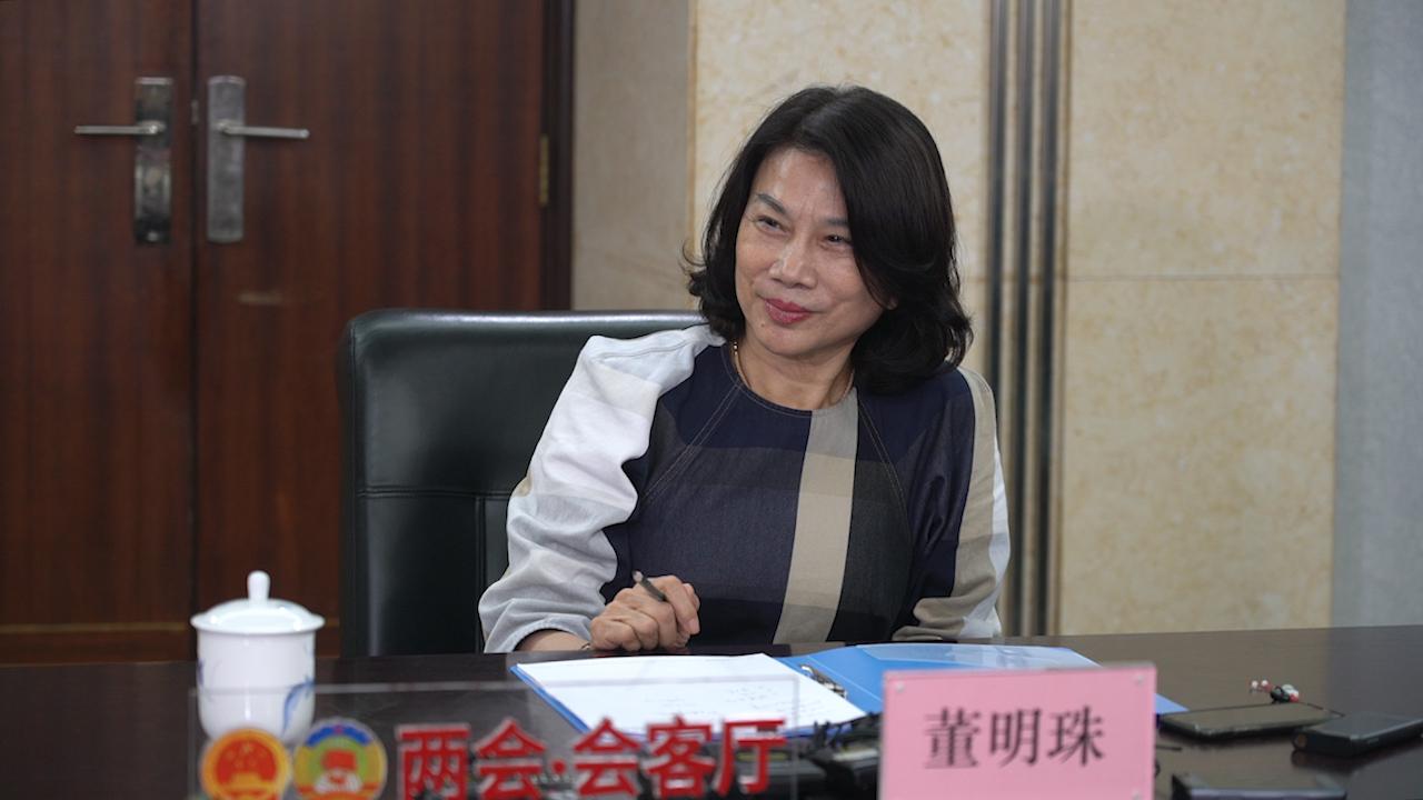 全国人大代表、格力电器董事长兼总裁董明珠。澎湃新闻记者 冯元晴 图