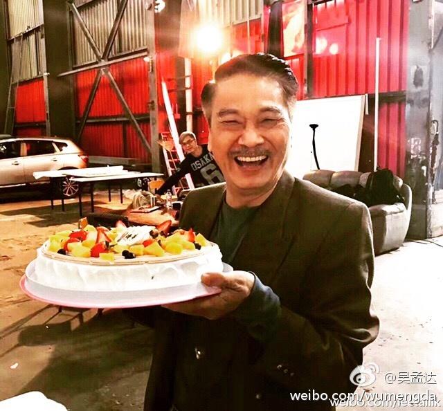 2017年1月,吴孟达po出的庆生蛋糕。
