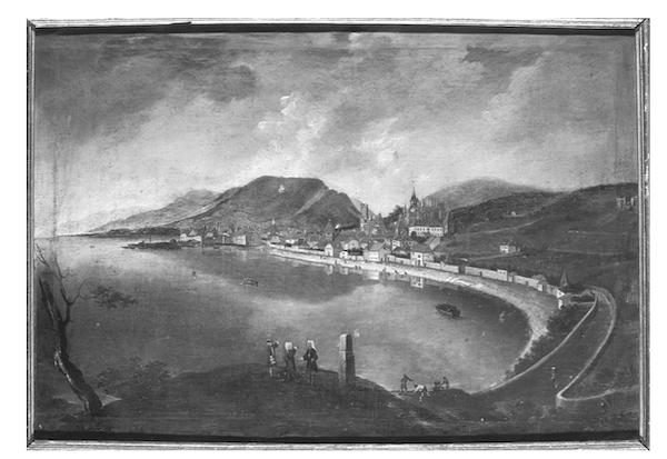 从克雷山望去的纳沙泰尔景色,戈尔茨绘,1826年