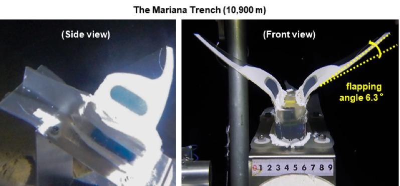 马里亚纳海沟10900米深海海试。