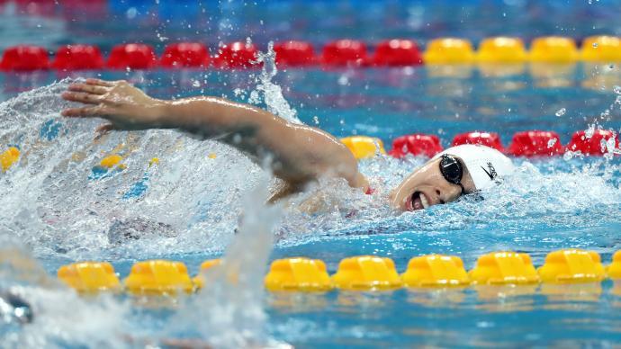 1分54秒70,杨浚瑄打破女子200米自由泳亚洲纪录