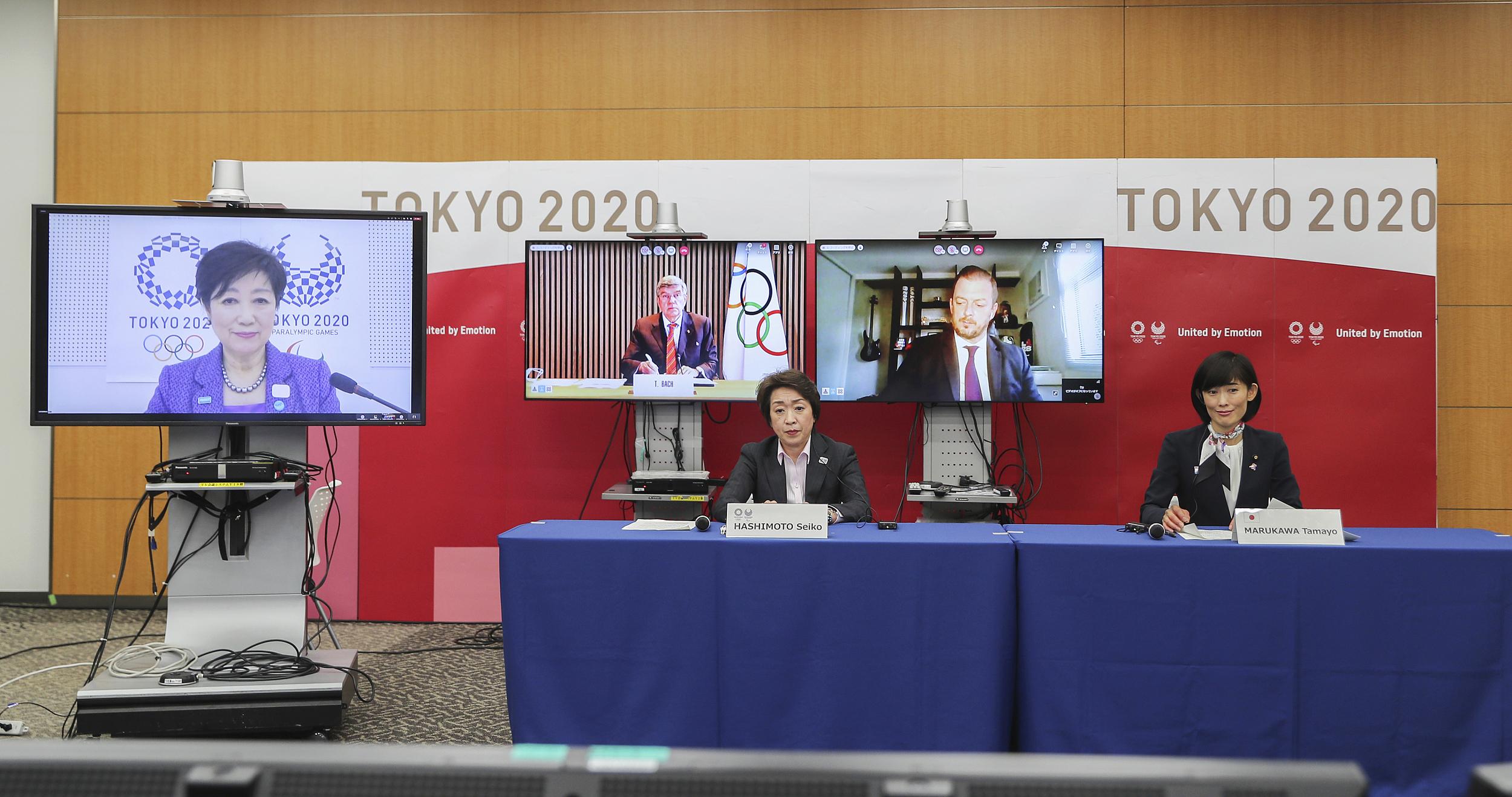 东京奥组委和国际奥委会举行线上会议。