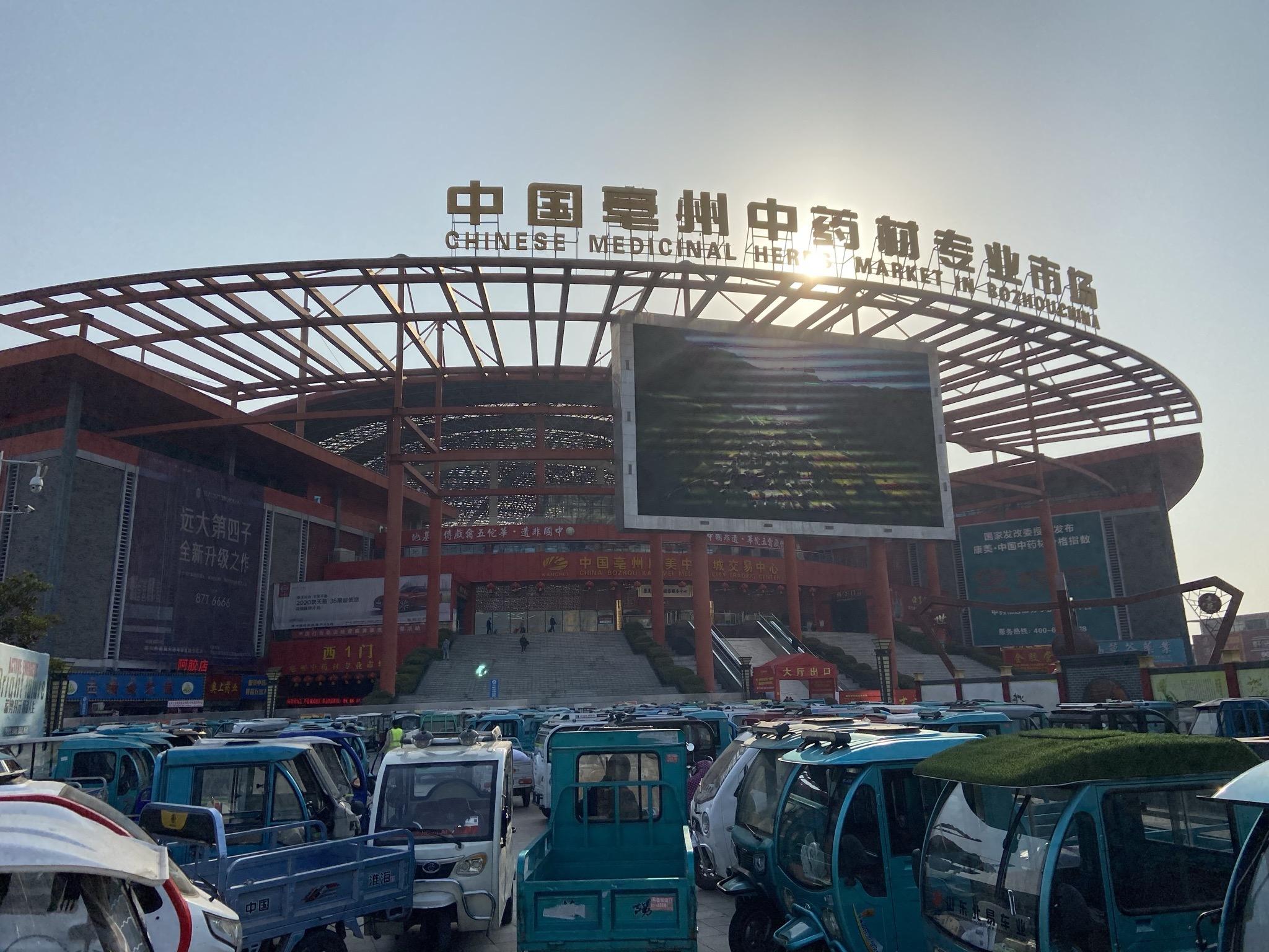 """2月22日上午,记者走访位于亳州市谯城区的""""中国亳州中药材专业市场"""",发现多家商贩专门经销紫河车"""