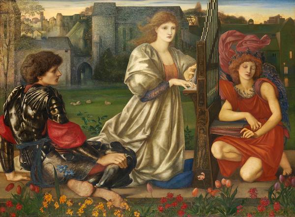 爱德华·伯恩-琼斯 《爱之歌》(Chant d' Amour,1868-73),现藏于美国纽约大都会博物馆