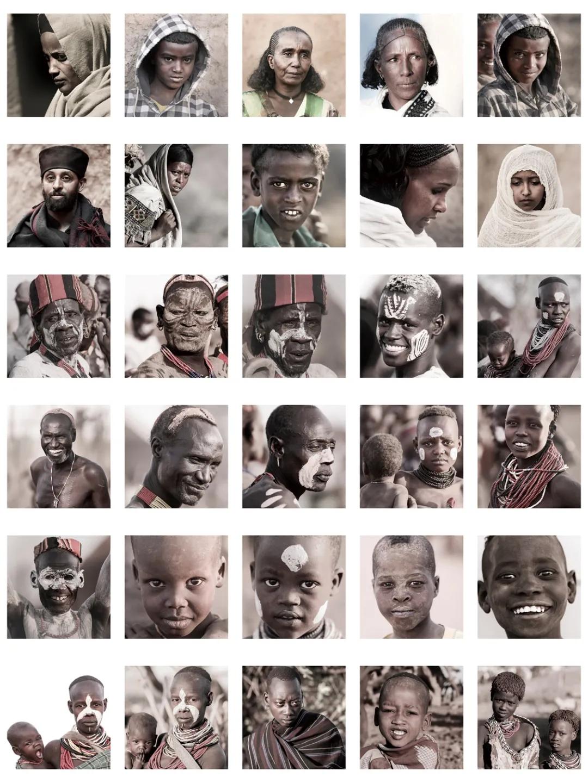 作品《混合与组合(埃塞俄比亚)》卓福民