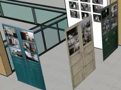 装置作品《邻居》(展览效果图)  吴建斌