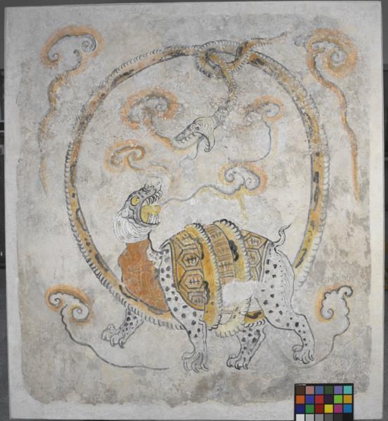 西安韩休墓玄武图壁画(修复后)