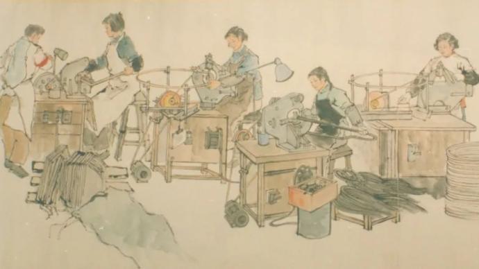 上海中國畫院:看謝之光唐云等筆下的建設畫面