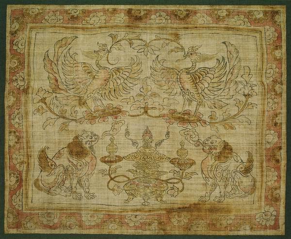 法国吉美博物馆藏《双凤双狮香炉图》