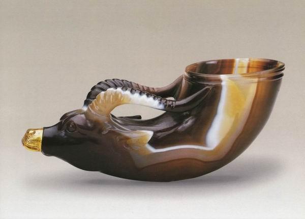 陕西历史博物馆藏何家村出土镶金兽首玛瑙杯