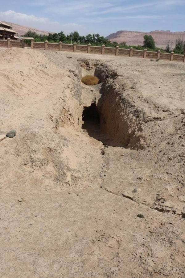 新疆阿斯塔那古墓群,张书彬摄于2018年4月