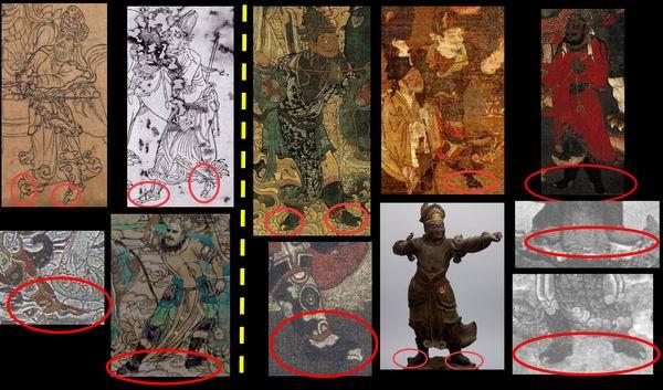 东亚佛教艺术中新样文殊驭狮者尖趾化部分图像汇总,张书彬整理