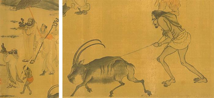 台北故宫博物院藏阎立本(传)《职贡图》局部