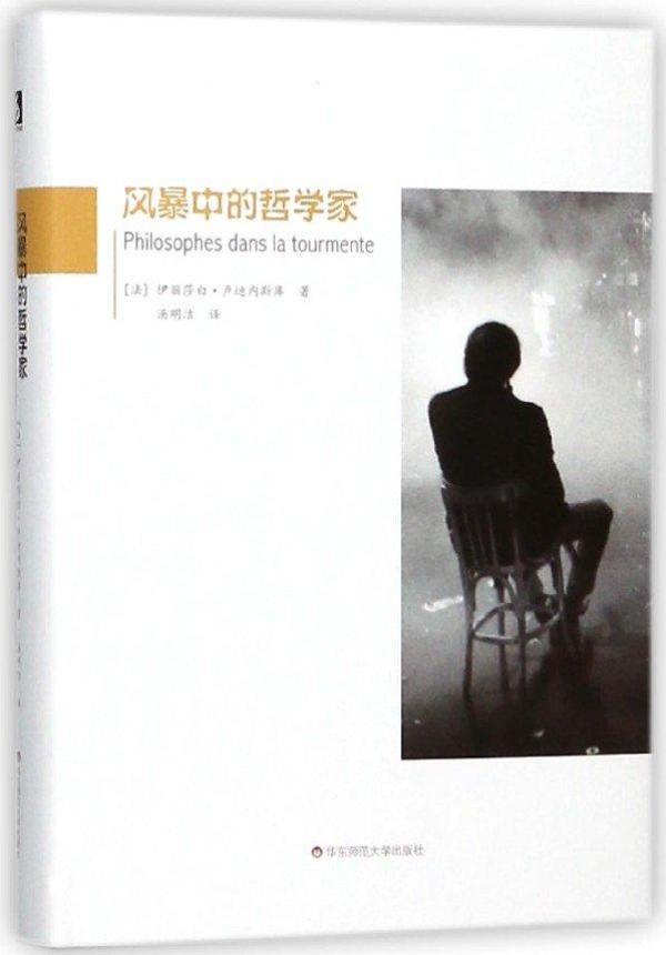 《风暴中的哲学家》,[法]伊丽莎白·卢迪内斯库著,汤明洁译,华东师范大学出版社,2018年3月出版,328页,68.00元