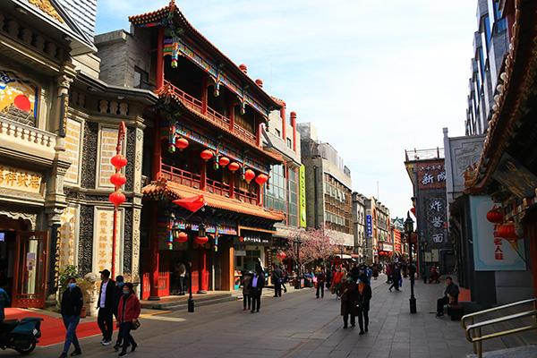 2021年3月29日,北京,位于前门的狗不理在京最后一家官方直营店关停。人民视觉 图