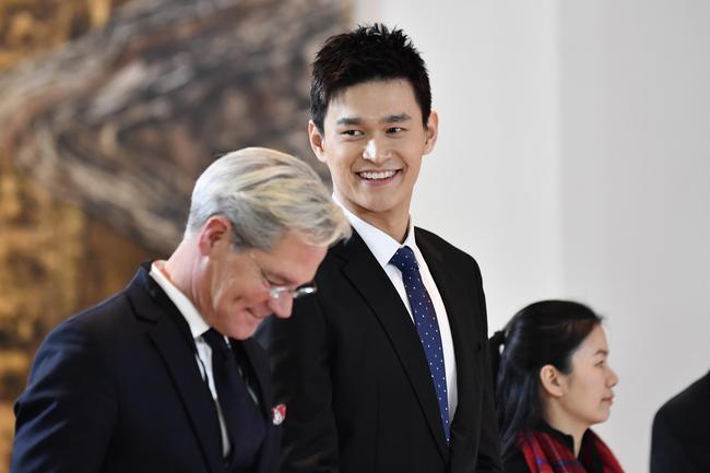 孙杨出席听证会。